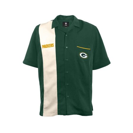 Little Earth 300633 Pack S Bowling Shirt Strike  Green Bay Packers   Small