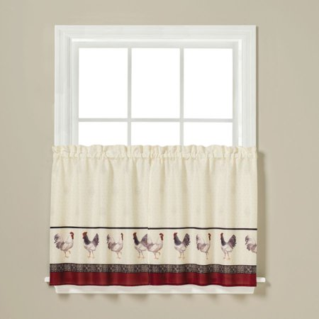 Saturday knight french country kitchen curtain 36 tier pair - Kitchen curtains walmart ...