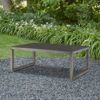 Monaco Outdoor Table In Brushed Antique White By Real Flame