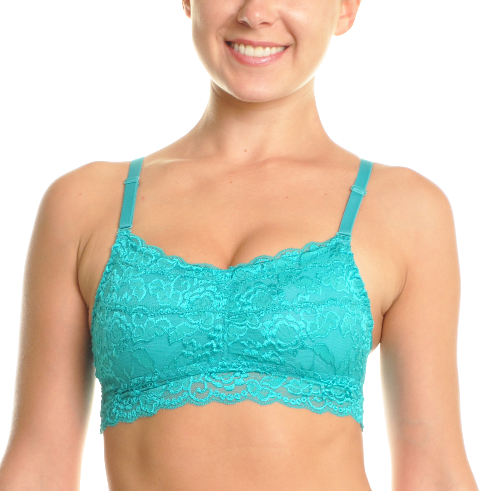 Angelina 6-Pack Floral Lace Wireless Cami Bralette