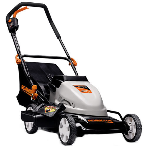 Remington 24 Volt 19-Inch 3-in-1 Cordless Battery-Powered Push Lawn Mower Certified Refurbished