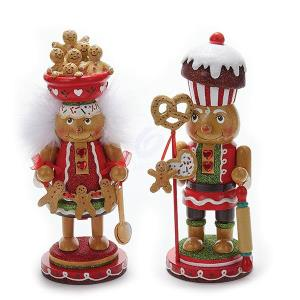 1 Set 2 Assorted Gingerbread Hollywood 11 Inch Nutcracker