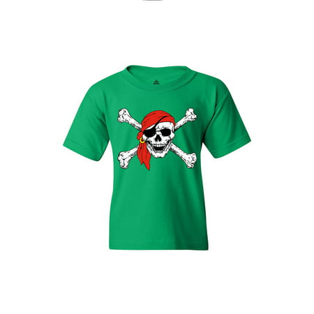Pirate Clothing (Shop4Ever Youth Skull and Crossbones Pirate Flag Graphic Youth)