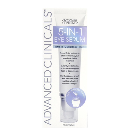 Advanced Clinicals 5-in-1 Multi Correction Anti-Aging Eye Serum with Retinol