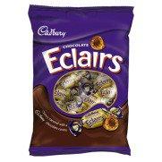 Cadburys Chocolate Eclair Bag - 130g - Pack of 2 (130g x 2 Bags) (Chocolate Eclairs)