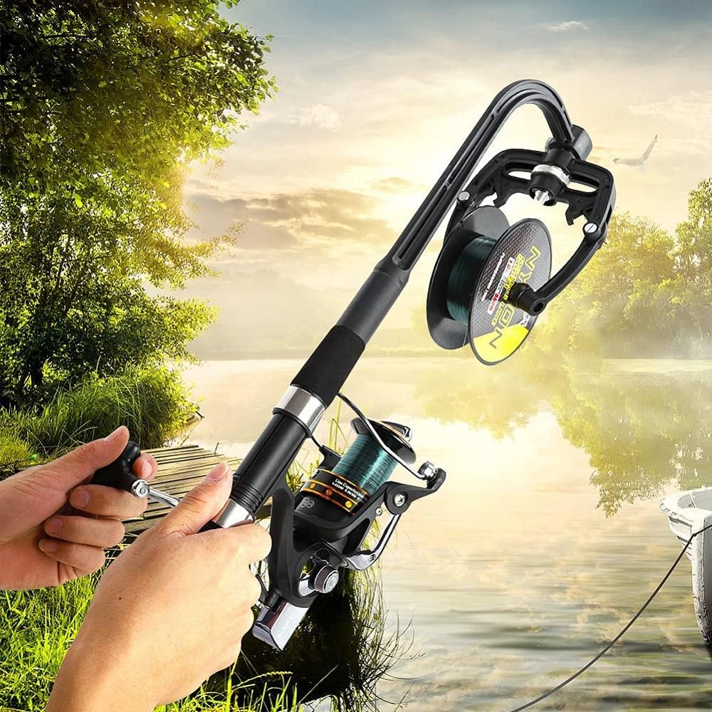 Fishing Line Winder Line Spooler Machine Spinning Reel System Fully Adjustable