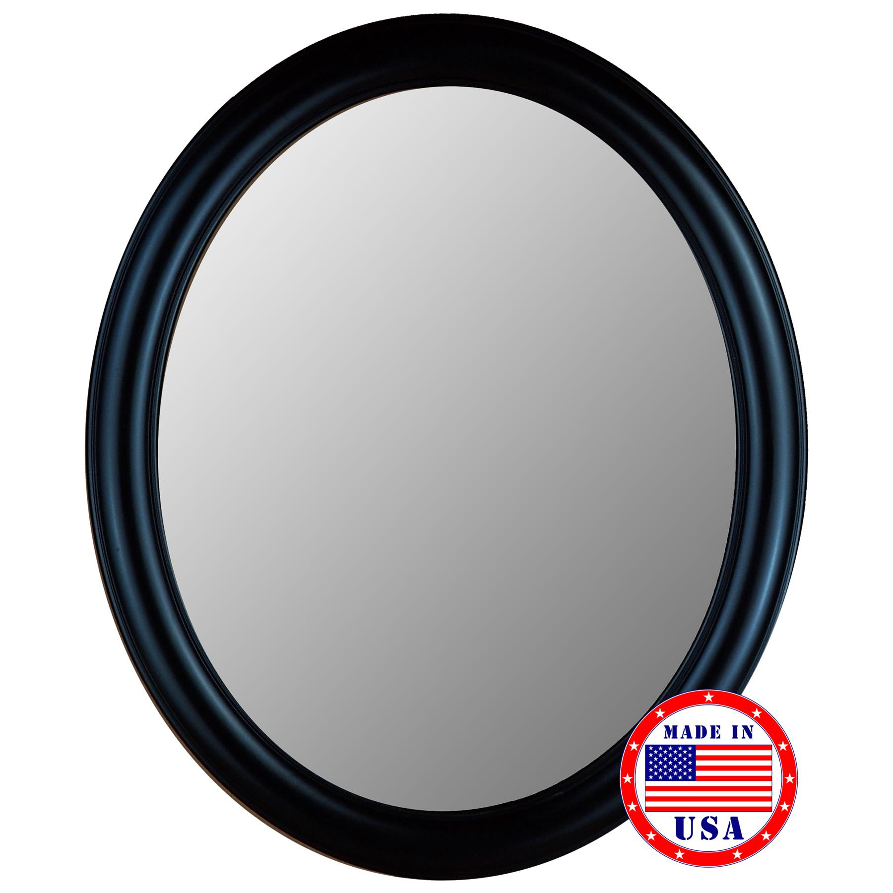 Oval Beveled Glass Decorative Wall Mirror (28 in. x 40 in.)