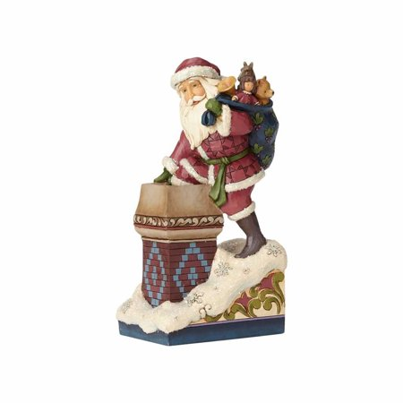 Jim Shore Heartwood Creek 4058752 Victorian Santa By Chimney - Victorian Santa