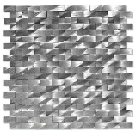 Alttoglass Me0003 Museum Aluminum Mosaic Tile    Pompidou