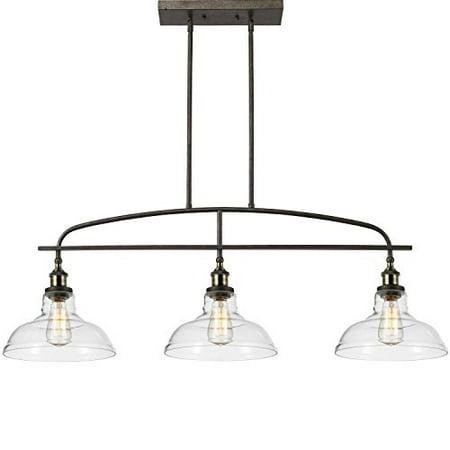 Ecopower kitchen Linear island Pendant Light Vintage Lamp Chandelier -3 Lights 3 Light Linear Pendant