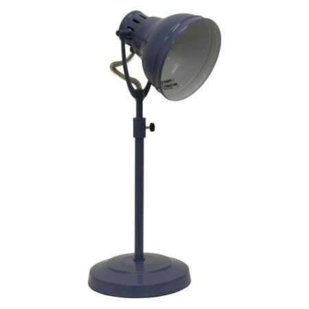 Desk Task Table Lamp With Adjustable Shade Blue  - Decor Therapy