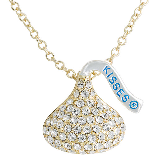 Hershey's Kiss Clear Crystal Goldtone Pendant, 18""