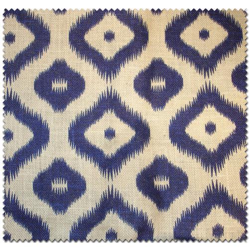 Textile Creations Jute Home Decor Burlap Large Diamond Royal Blue Fabric, per Yard