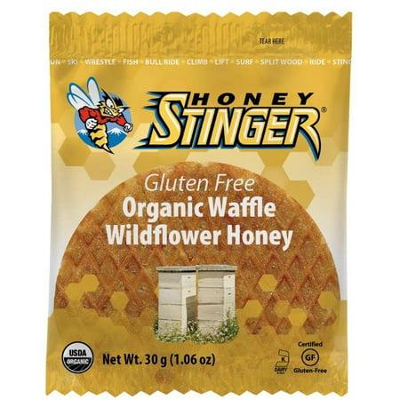 Honey Stinger Organic Gluten Free Waffles, Wildflower Honey, 1.06