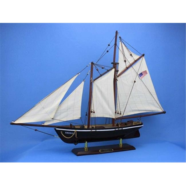 Handcrafted Model Ships America 24 America 24 in. Decorative Sail Boat by Handcrafted Model Ships