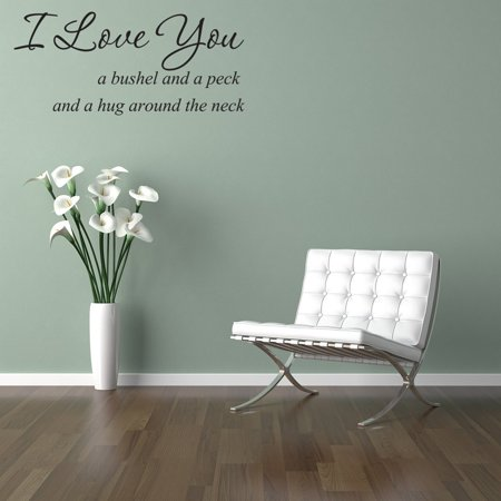 vinyl wall art love decal i love you a bushel and a peck wall quotes