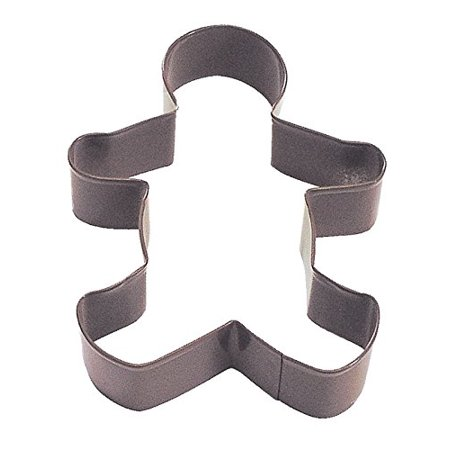 R & M Polyresin Coated Gingerbread Boy Cookie Cutter, 5-Inch, Brown ()