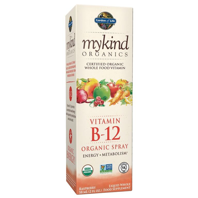Garden of Life Mykind Organics Vitamin B-12 Spray, Raspberry, 2 Fl Oz