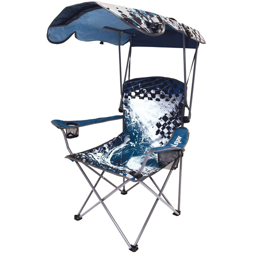 Kelsyus Original Canopy Chair, Blue Wave