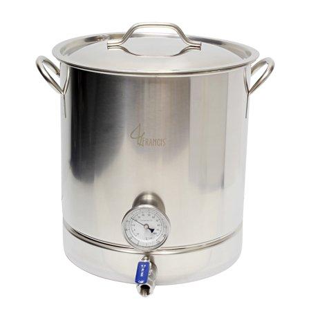 10 Gallon Brew Kettle Home Brewing Kit – 40 Qt Boil Pot Ball Valve False