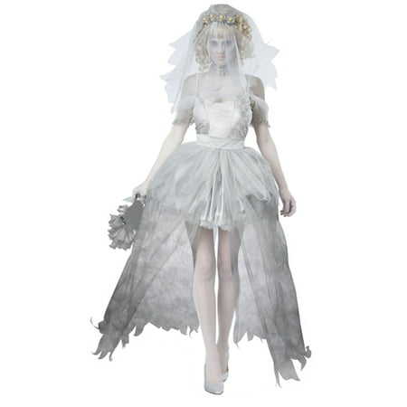 Gothic Womens Ghostly Bride Halloween Costume - Evil Bride Halloween Costume