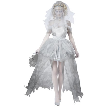 Gothic Womens Ghostly Bride Halloween - Chucky's Bride Costumes For Halloween