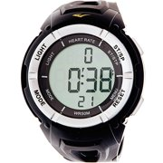 Everlast Men's HR3 Heart Rate Monitor Watch with Continuous Readout and Transmitter Belt, Black Plastic Band
