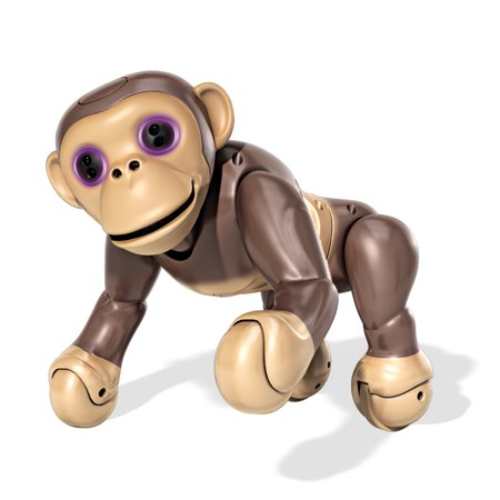 Chimp Chimpanzee - Zoomer Chimp, Interactive Chimp with Voice Command, Movement and Sensors by Spin Master