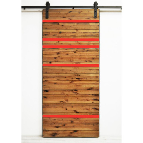 Dogberry Collections Line Em Up Wood 1 Panel Interior Barn Door