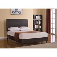 "HomeLife® 47"" Brown Leather Headboard & Platform Bed"