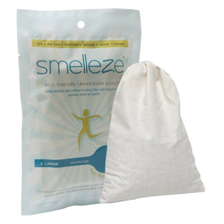 SMELLEZE Reusable Human Scent Remover Deodorizer: 2 Pouches to Hunt Scent - Human Scent