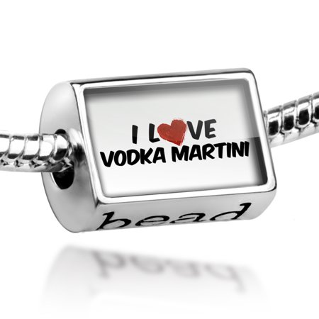 Bead I Love Vodka Martini Cocktail Charm Fits All European - Simple Halloween Cocktails With Vodka