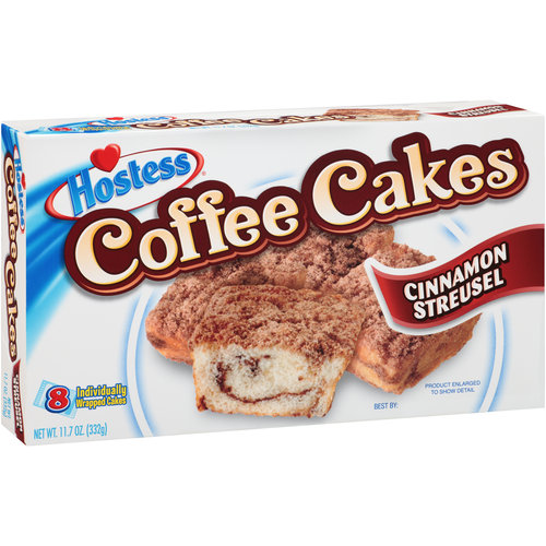 hostess coffee cake hostess cinnamon streusel coffee cakes 8 count 11 7 oz 4852
