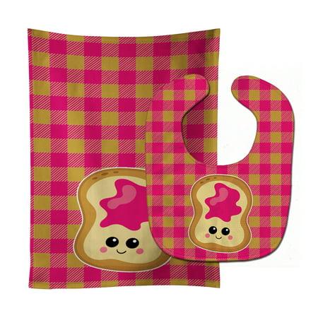 Jelly Toast Baby Bib & Burp Cloth BB6844STBU - Jelly Cloth