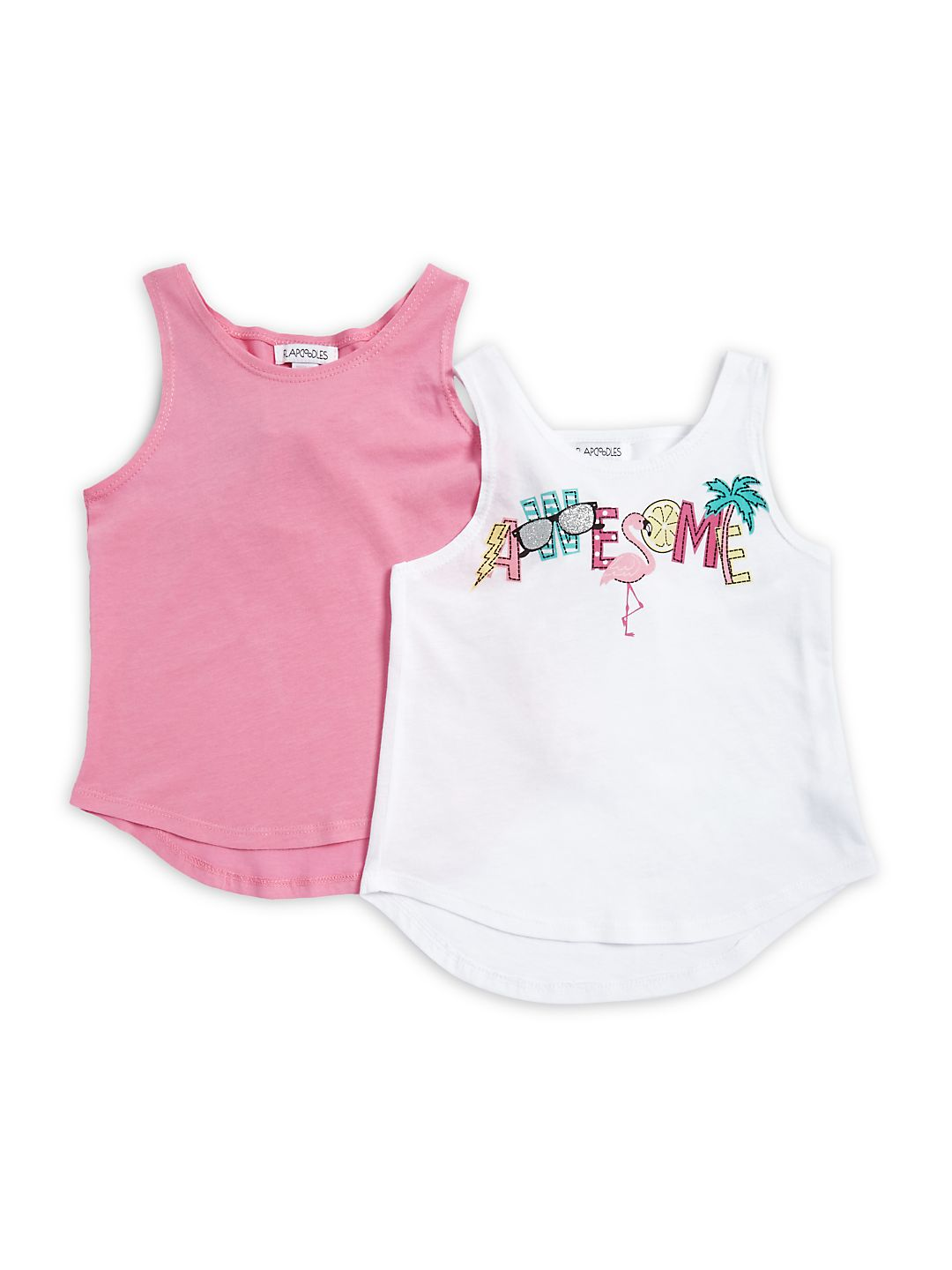 Little Girl's Two-Pack Hi-Lo Tank Top