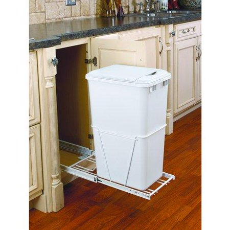 rev a shelf 12 5 gallon pull out waste container. Black Bedroom Furniture Sets. Home Design Ideas