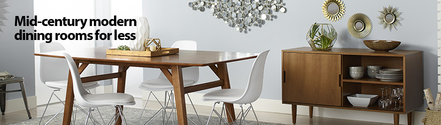 mid century modern dining rooms for less - Dining Room Furniture Chairs