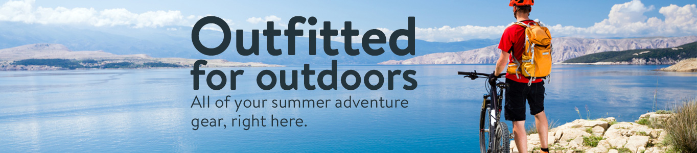 outfitted for outdoors all of your summer adventure gear right here