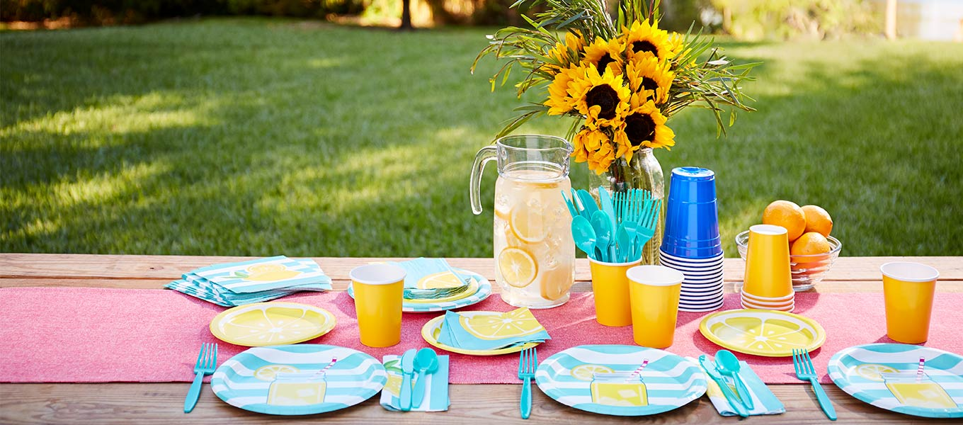Ready. Set. Celebrate. Get prepped for fun this summer by stocking up on party supplies & more!
