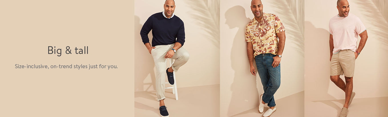 Big & tall. Size-inclusive, on-trend styles just for you