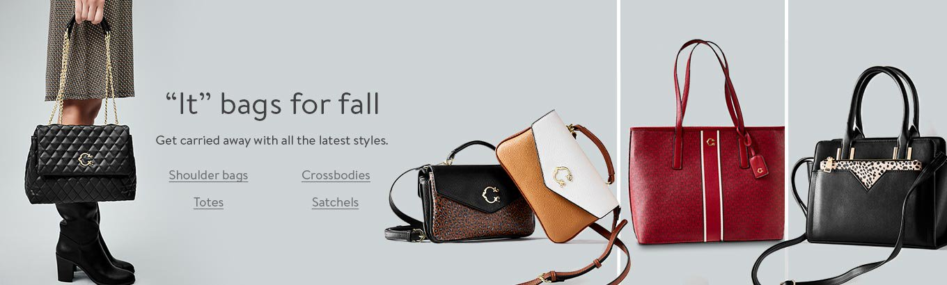 It bags for fall. Get carried away with all the latest styles. Shoulder bags. Crossbodies. Totes. Satchels.