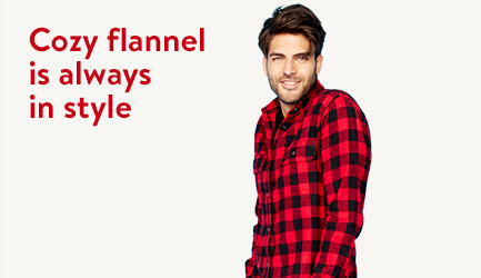 Cozy flannel is always in style