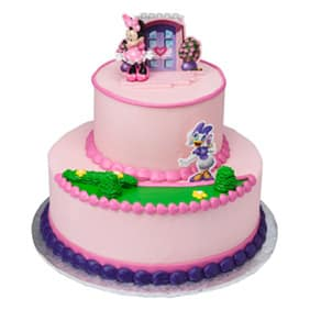 Pink Minnie Tier Cake