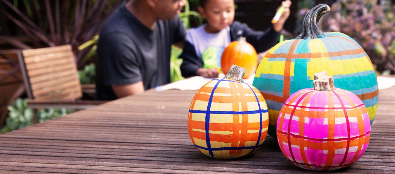 How to Paint Plaid Pumpkins