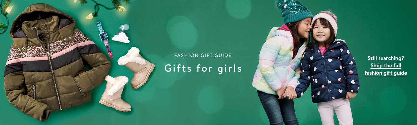 Fashion gift guide. Gifts for girls. Still searching? Shop the full fashion gift guide.