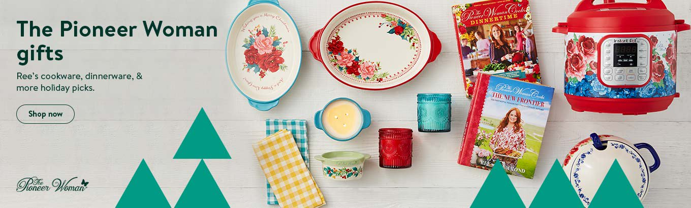 The Pioneer Woman gifts. Ree's cookware, dinnerware, and more holiday picks.