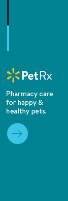 Walmart Pet Rx Pharmacy care for happy & healthy pets.