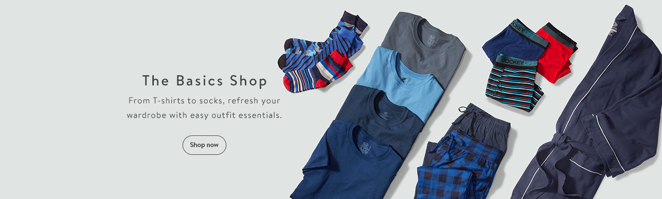 The Basics Shop. From T-shirts to socks, refresh your wardrobe with easy outfit essentials. Shop now
