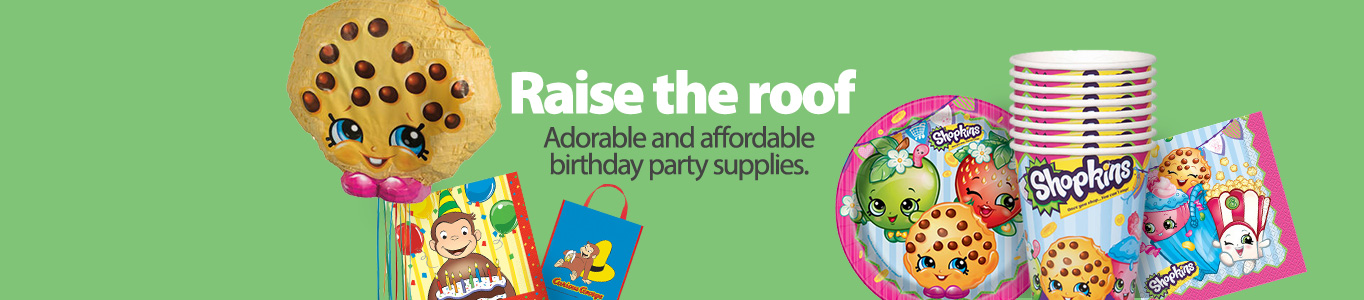 Adorable and affordable birthday party supplies.
