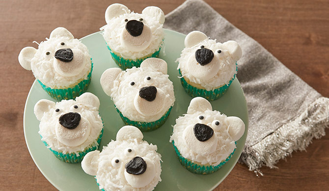 North Pole-R Bear Cupcakes